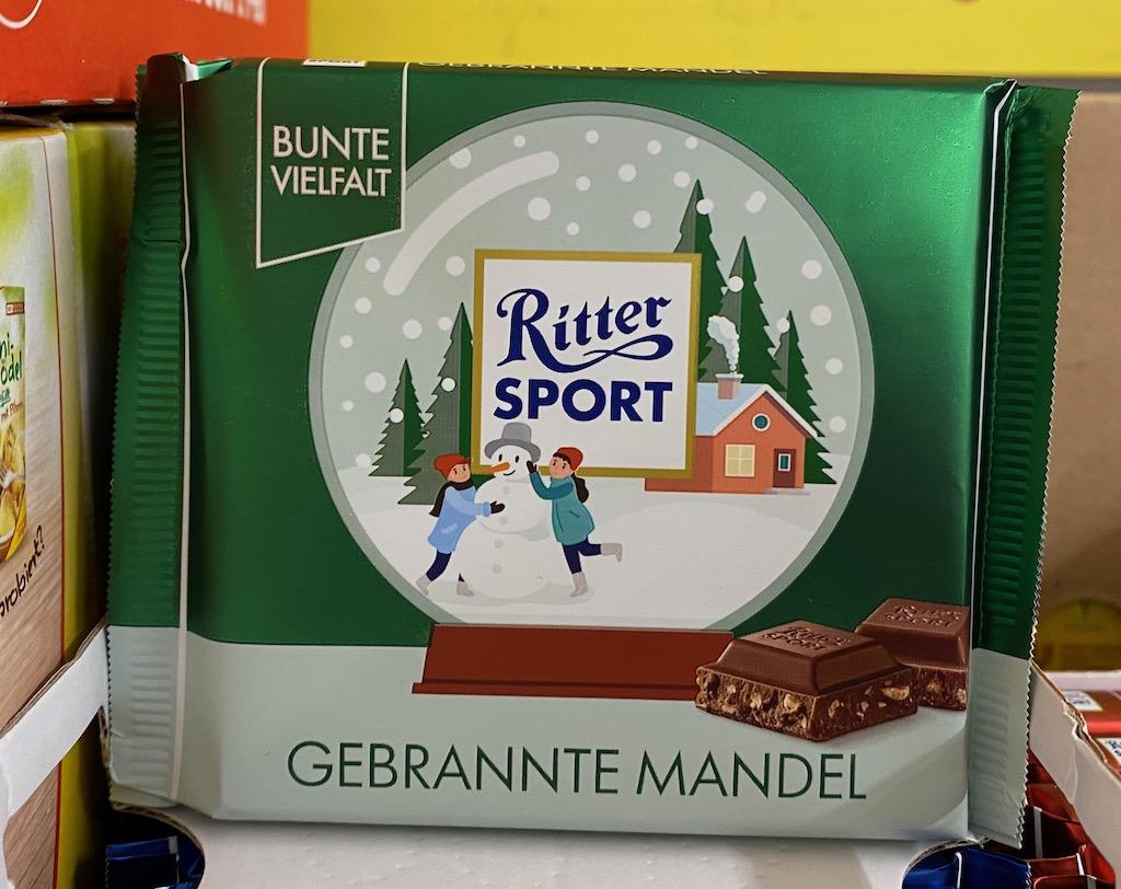 Ritter Sport Gebrannte mandel Wintermotive 2020