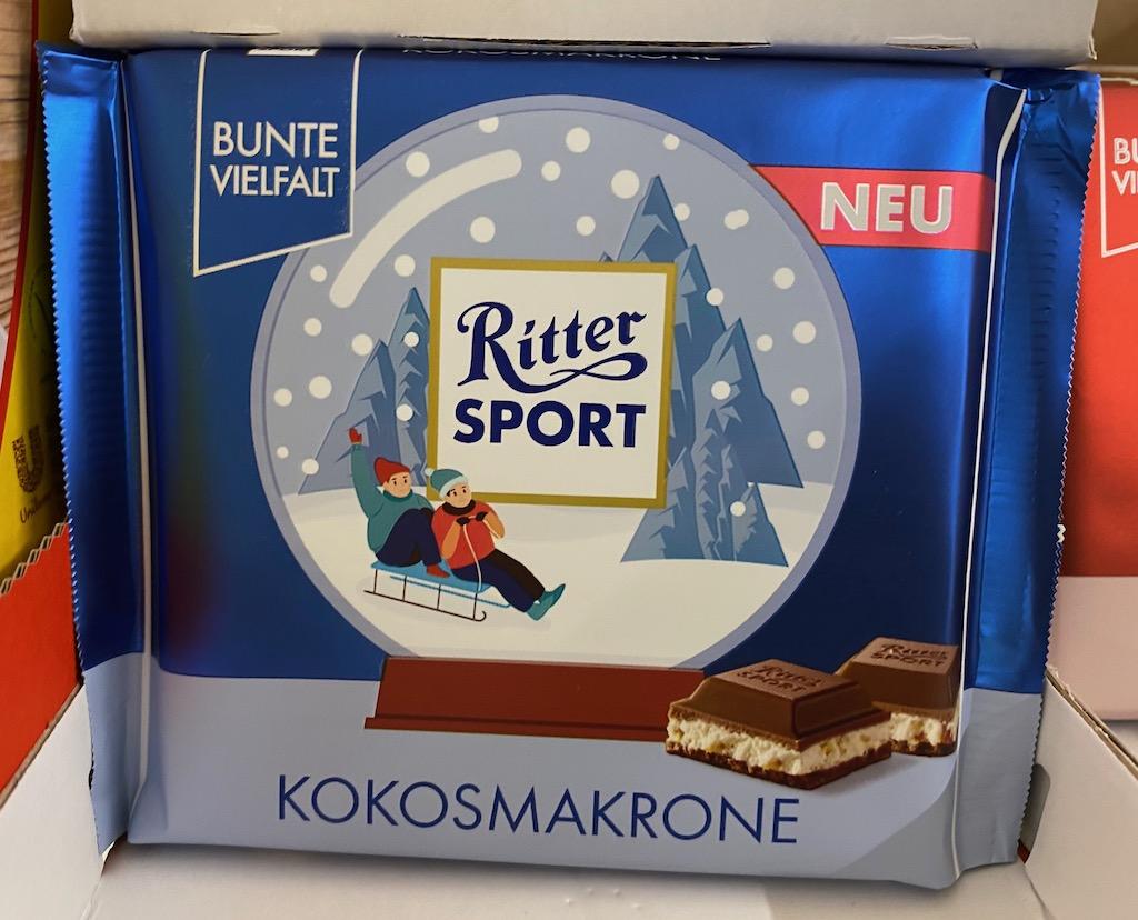 Ritter Sport Kokosmakrone Wintermotive 2020