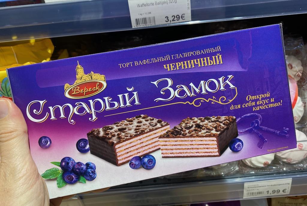 Bepeck Russische Waffeltorte mit Blaubeerengeschmack