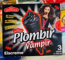 Dovgan Plomir Vampir Schwarze Eiskrem Vanille mit Kirschfüllung 3x150ml