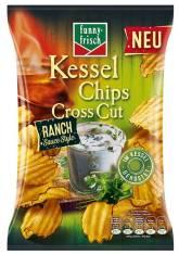 Funny Frisch Kesselchips Cross Cut Ranch 120g