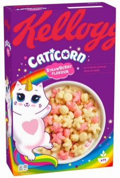 Kellogg's Caticorn Strawberry Flavour 350g Katze