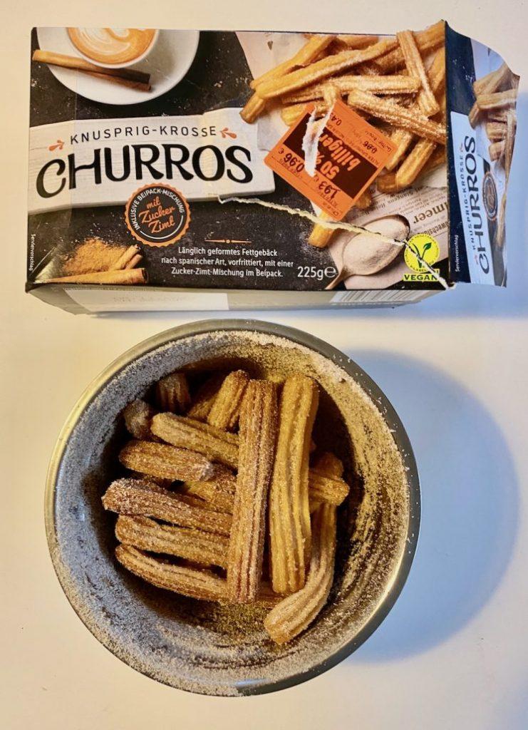 Lidl Churros mit Zimt und Zucker Tiefgefroren225G