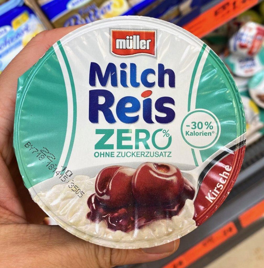 Müller Milchreis Zero ohne Zuckerzusatz 30% Kalorien