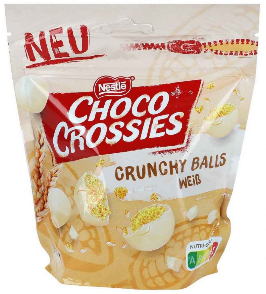 Nestlé Choco Crossies Crunchy Balls Weiß 200g