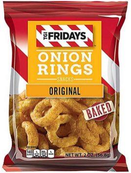 TGI Fridays Onion Rings Snacks Original Baked 59g