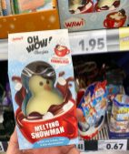 Wawi Oh Wow! Chocolate Melting Snowman gefüllt mit Schoko-Chips und Minimarshmallows