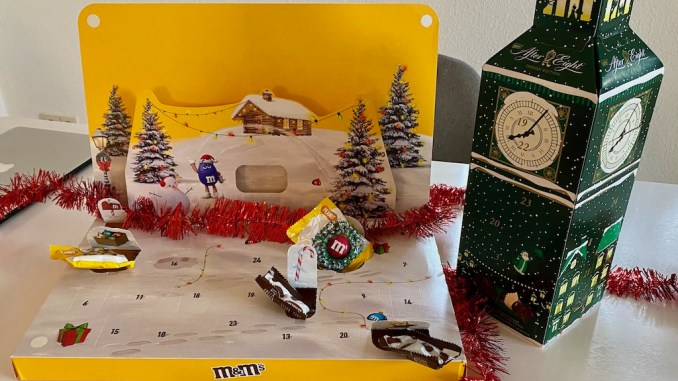 Adventskalender Mars M+M und After Eight