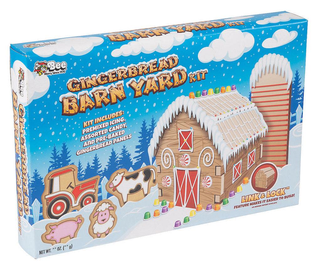 Bee Merry Since 1970 Gingerbread Barn Yard Kit