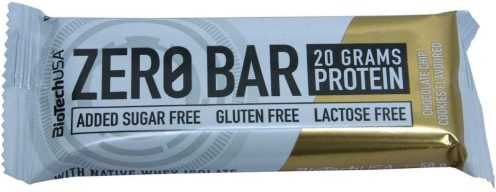BioTech USA Zero Bar 20 Gramm Protein Added Sugar Free Glutenfree