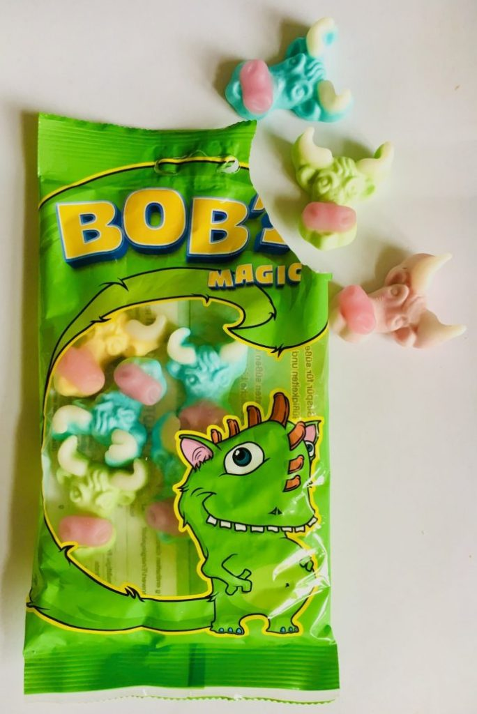 Boby Magic Stierköpfe aus Fruchtgummi Monstermotiv