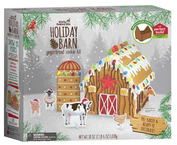 Crafty Cooking Kits Holiday Barn Gingerbread Cookie Kit 1078G