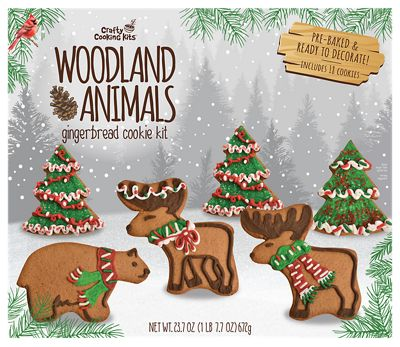 Crafty Cooking Kits Woodland Animals Gingerbread Cokkie Kit 672G