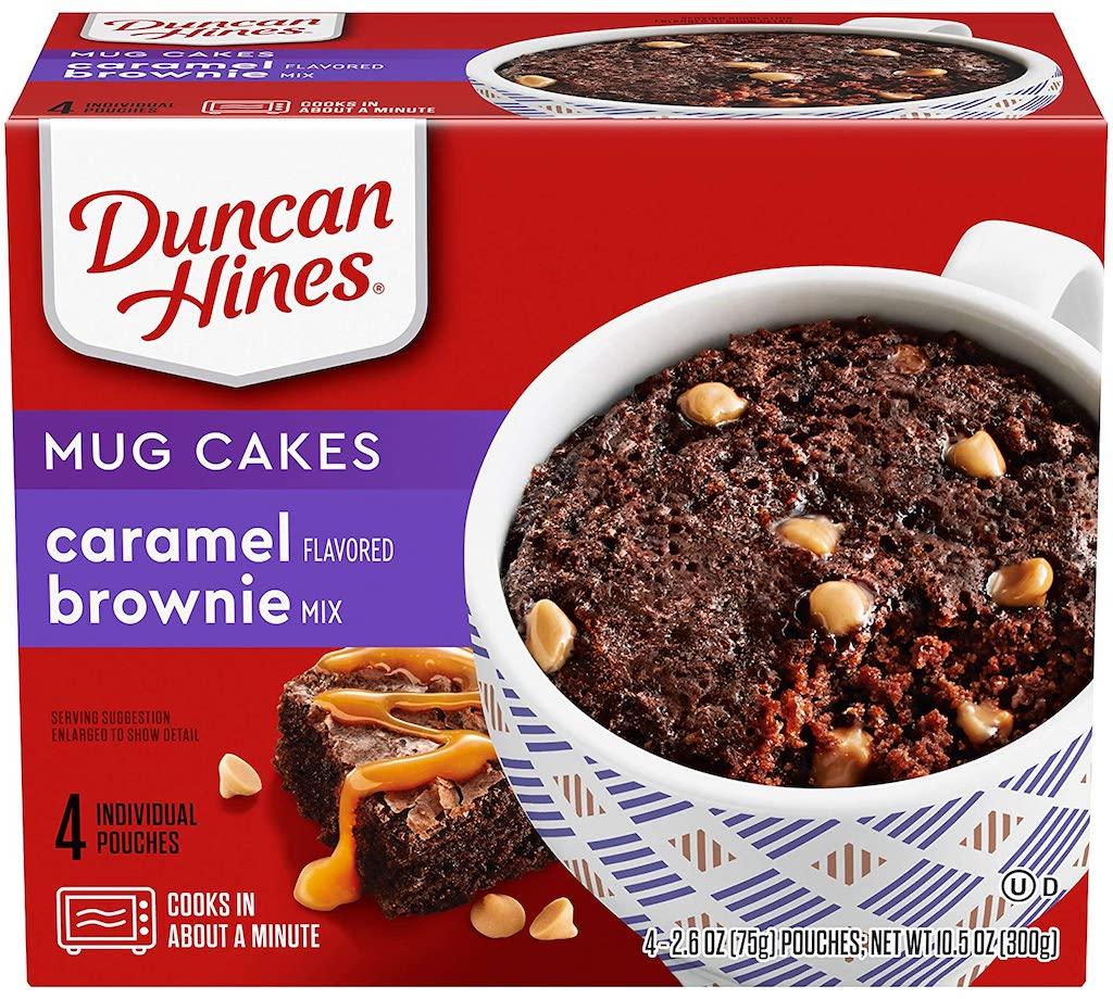 Duncan Hines Mug Cakes Caramel Brownie 4er 300G Tassenkuchen