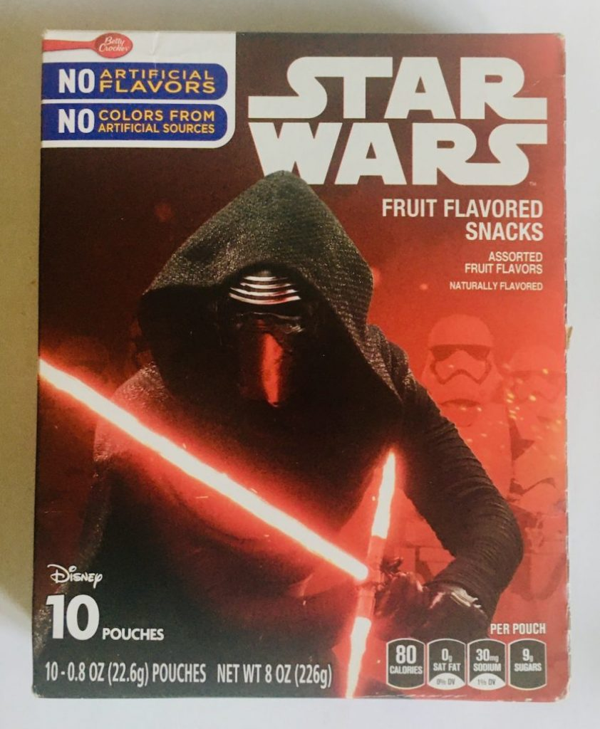 General Mills Disney Star Wars Fruit Flavored Snacks Front of Package