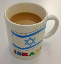 Kaffeebecher als Souvenir aus Israel