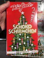 Küfferle Schoko-Schirmchen Gestreift 18er