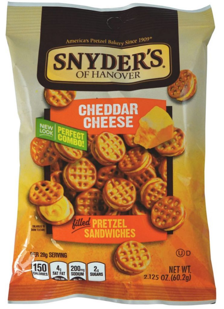 Snyder's of Hanover Cheddar Cheese Pretzel Sandwiches 60G