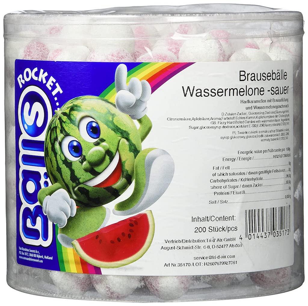 Tri d'Aix Rocket Balls Brausebälle Wassermelone 200er Dose