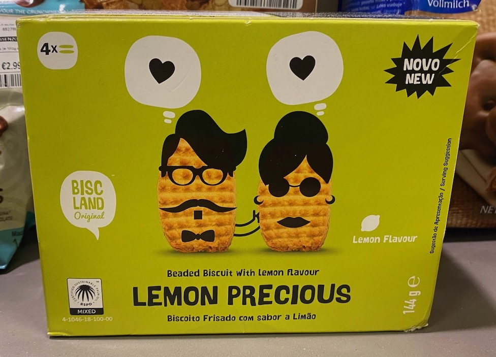 Biscland Original Lemon Precious Beaded Biscuit with Lemon Flavour Lemon Flavour 144G
