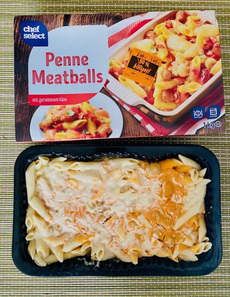 Chef Select Penne Meatballs mit geriebenem Käse 1000G