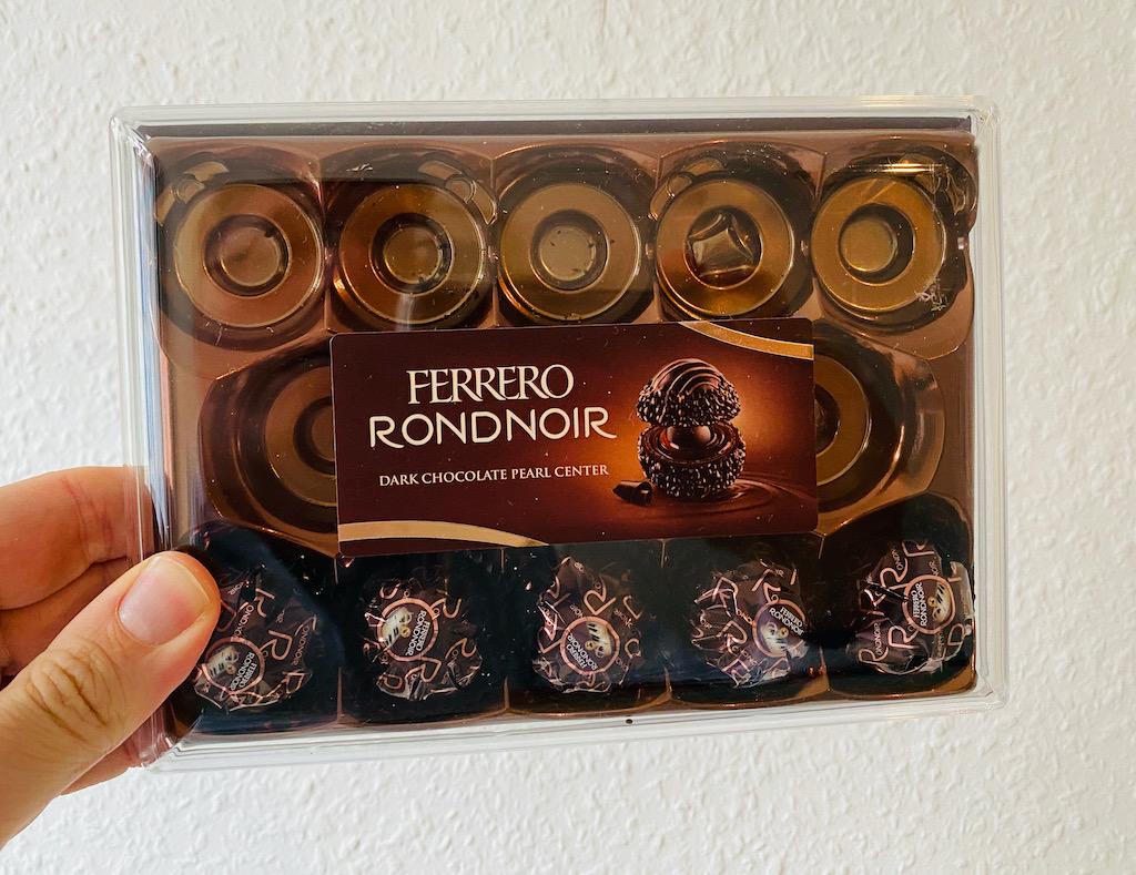 Ferrero Rondnoir Dark Chocolate Peal Center