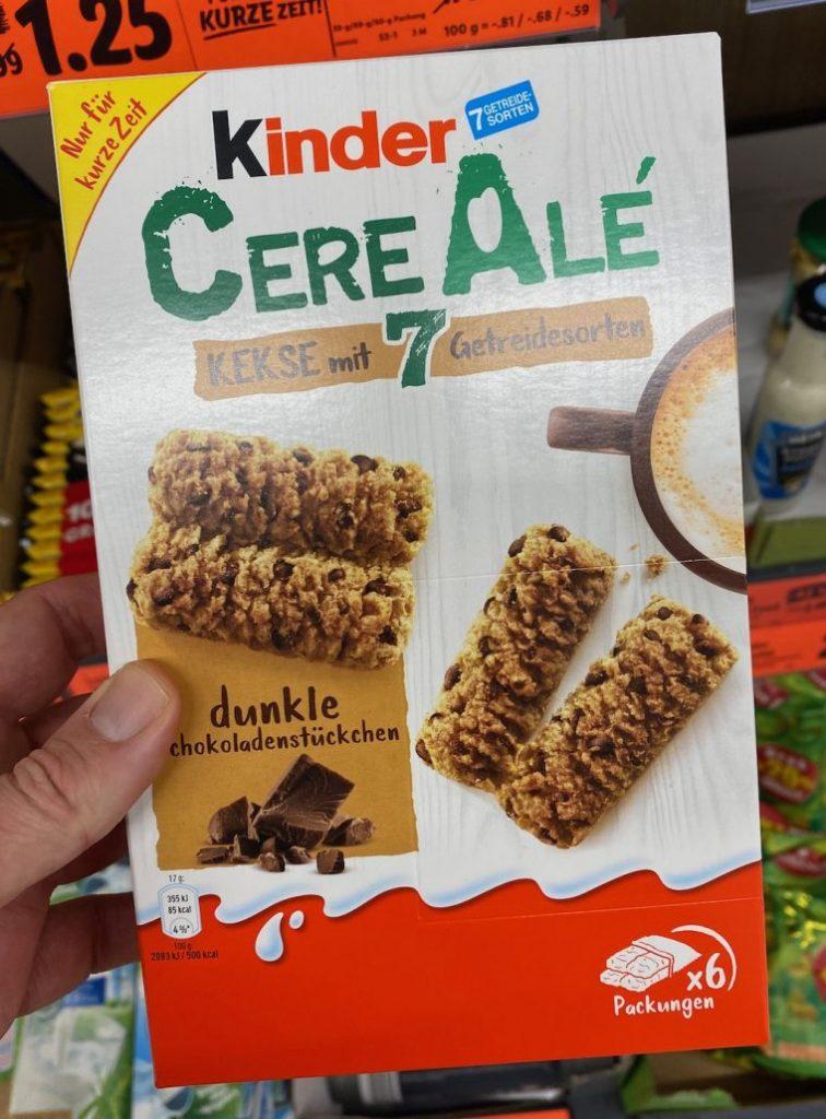 Ferrero inder Cere Alé Kekse mit 7 Getreidesorten und dunklen Schokostückchen 6er