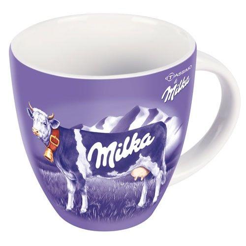 Klassischer Milka-Becher mit Kuh in Lila