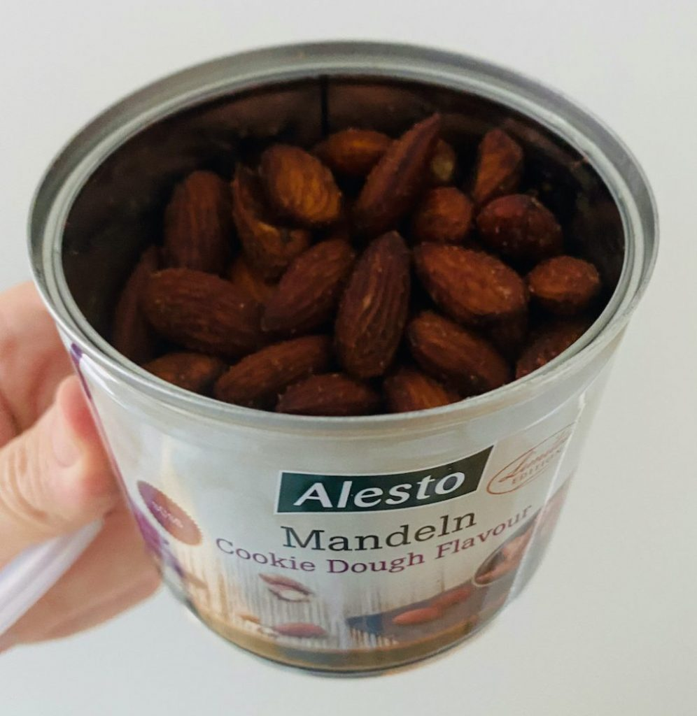 Lidl Alesto Mandeln Cookie Dough Flavour Dose