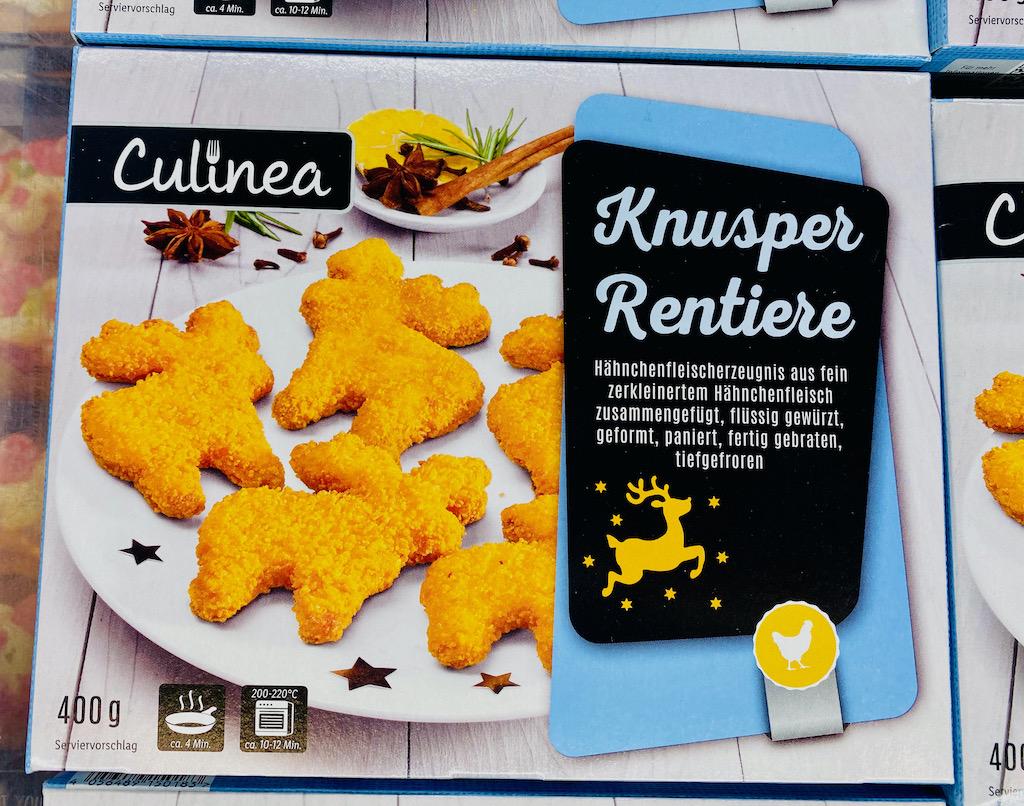 Lidl Culinea Knusper-Rentiere Chicken Nuggets 400G