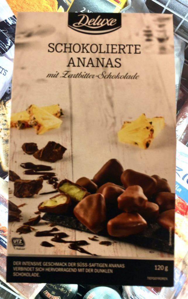 Lidl Deluxe Schokolierte Ananas mt Zartbitter-Schokolade Tiefkühl 120G