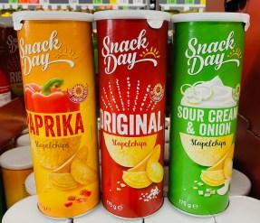 Lidl Snack Day Stapelchips Paprika- Original-Sour Cream+Onion 175G