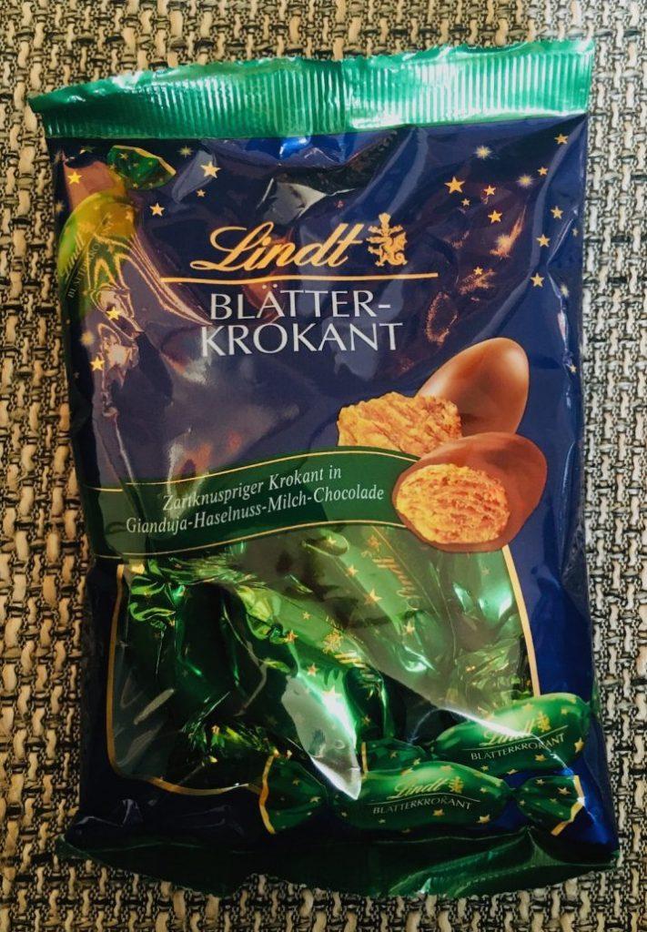 Lindt Blätterkrokant Knuspriger Krokant in Gianduja-Haselnuss-Milch-Chocolade