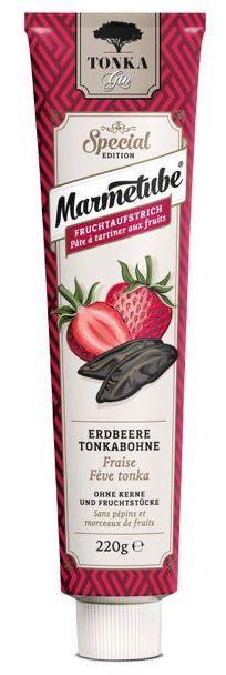 Marmetube Special Erdbeere Tonkabohne 220G