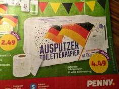 Penny Toilettenpapier Werbung Ausputzer Fußballmotive 16er