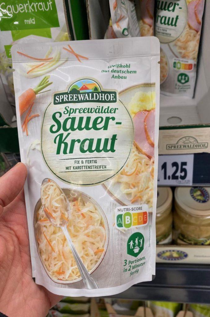 Spreewaldhof Spreewälder Sauerkraut im Beutel Nutri-Score