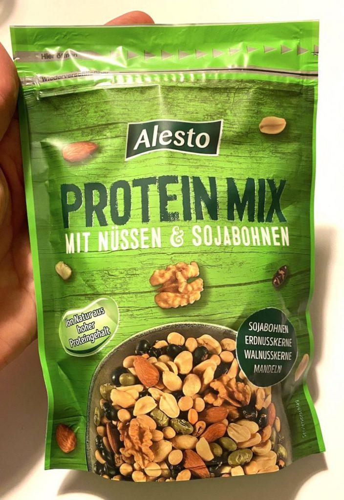 Lidl Alesto Protein Mix mit Erdnüssen-Walnüssen-Mandeln-Sojabohnen