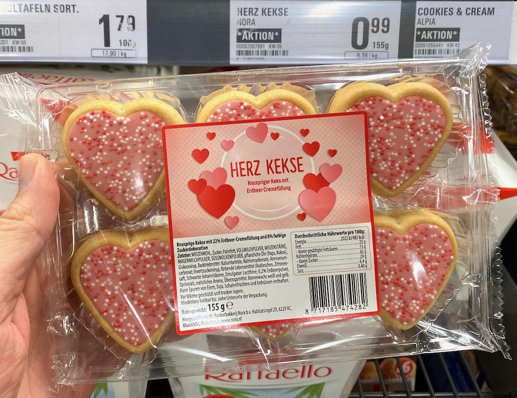 Penny Herzkekse Valentinstag 155G
