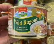 Gutes aus der Eifel Wild Ragout mit Mischpilzen in einer feinen Soße Konserve