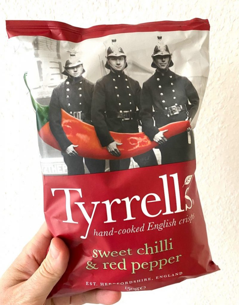 InterSnack Tyrells Sweet Chilli+red pepper 150G