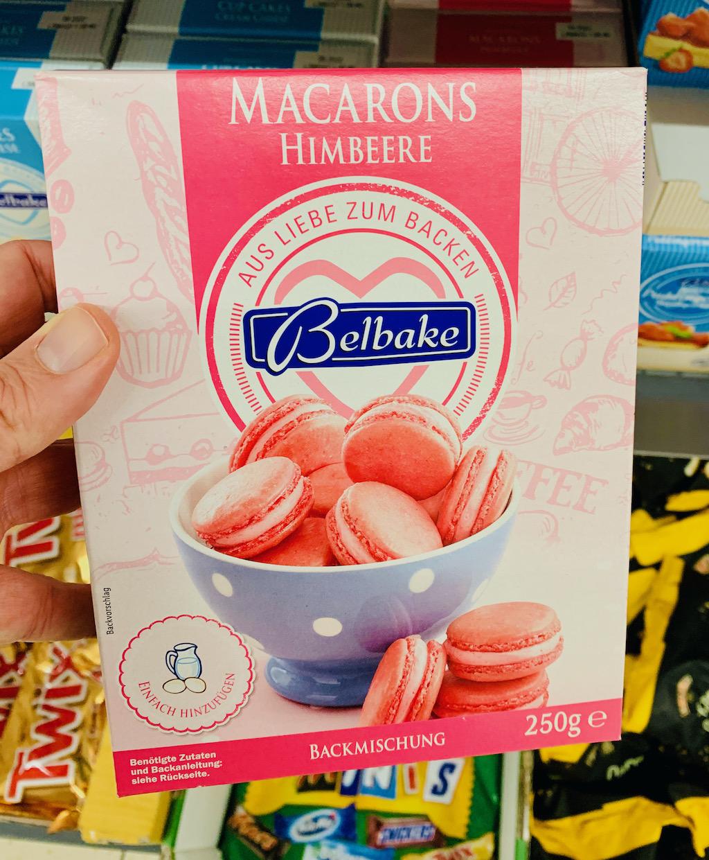 Belbake Backmischung Macarons Himbeere 250G