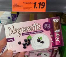 Ferrero Yogurette Schwarze Johannisbeere Limited Edition 100G