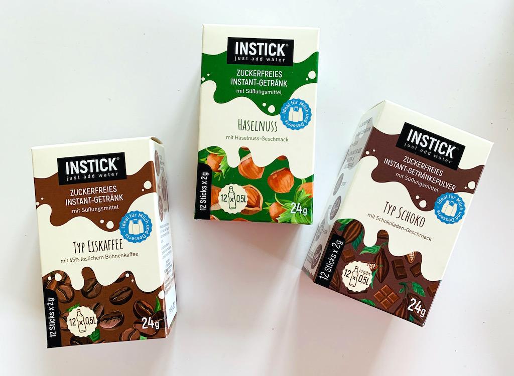 Instick Zuckerfreie INstantgetränke Typ Eiskaffee-Haselnuss-Schoko