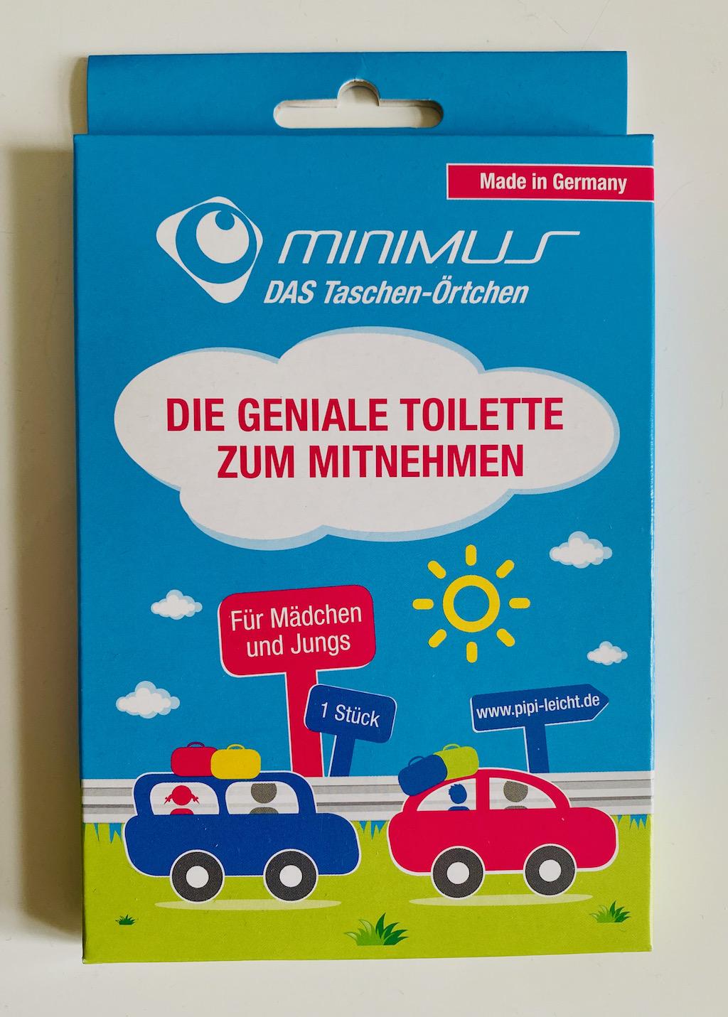 Minimus Das Taschen-Örtchen Toilette zum Mitnehmen für Jungs und Mädchen
