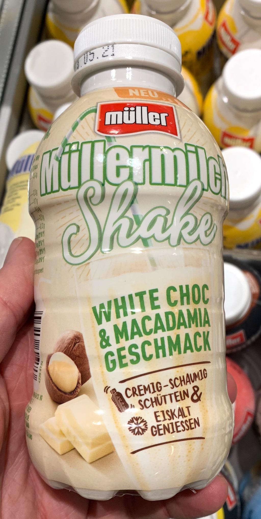 Müllermilch Shake White Choc+Macadamia