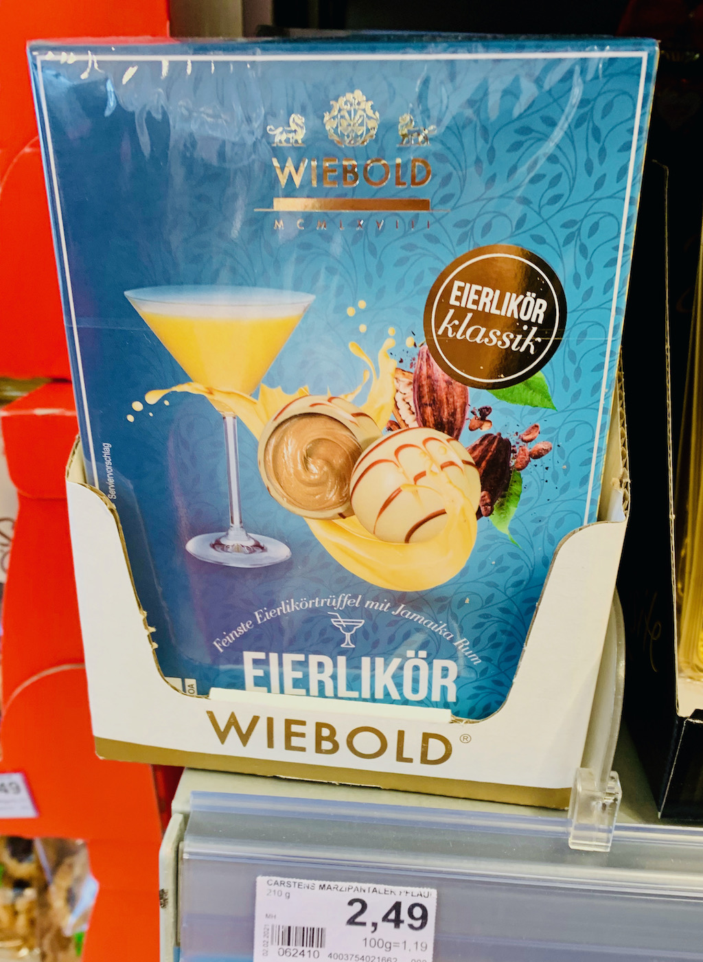Wiebold Eierlikör-Pralinen mit Jamaika-Rum