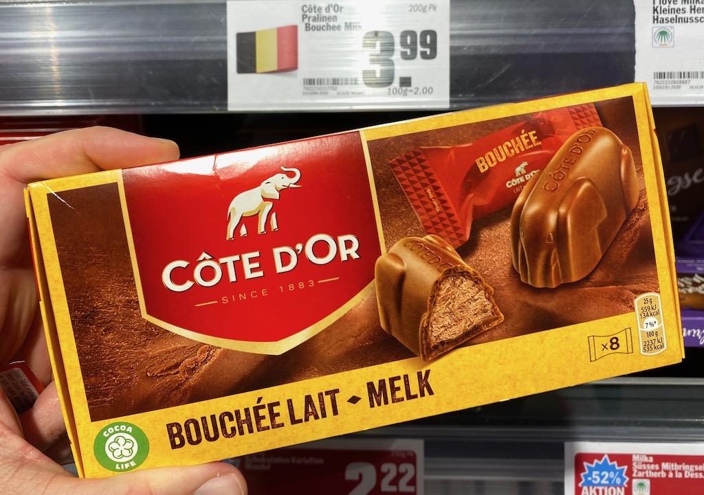 Cote D'Or Pralinen Bouchee Lait Milchschokolade 8er