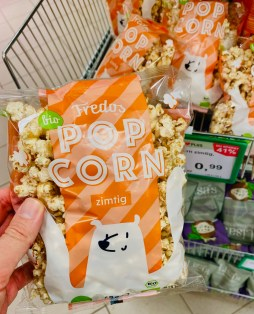 Fredos Bio Popcorn zimtig mit Motiv Eisbär