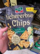 Funny Frisch Kichererbsen Chips Joghurt Gurken Style 50% weniger Fett gebacken nciht frittiert