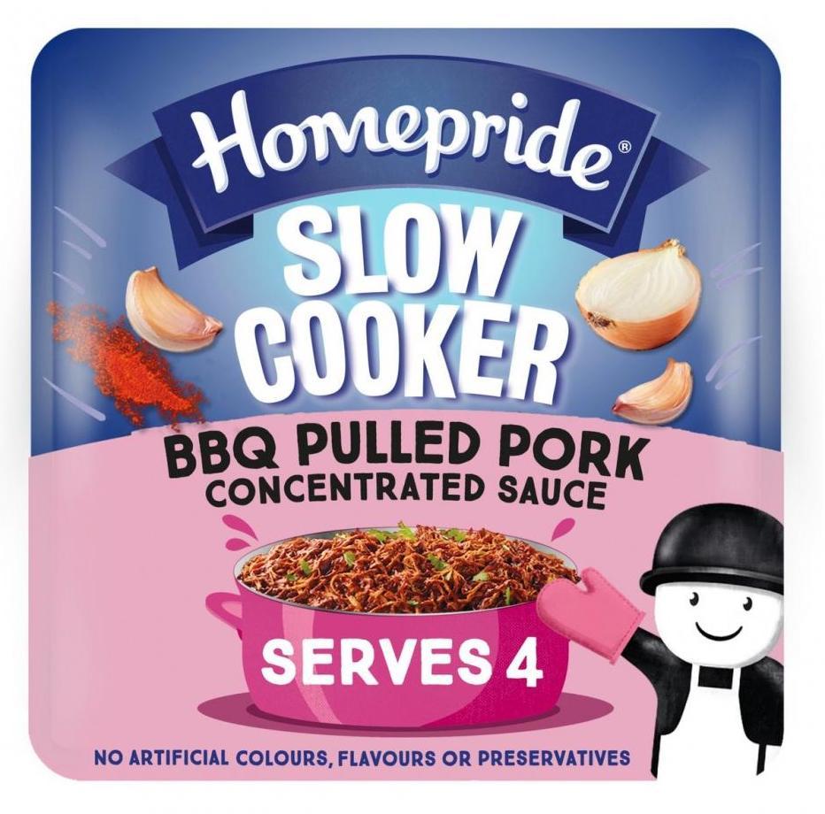 Homepride Slow Cooker BBQ Pulled Portk Sauce 4er 150g